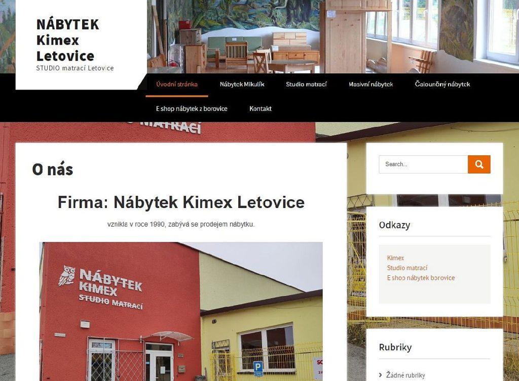 Nábytek Kimex Letovice